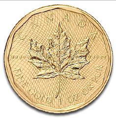 """канадский """"кленовый лист"""", реверс"""